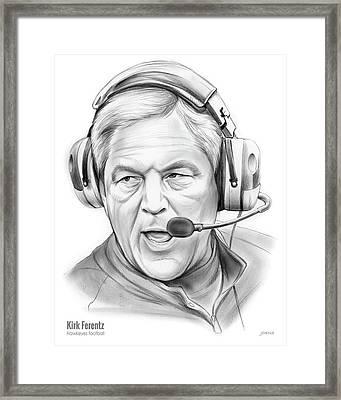 Kirk Ferentz Framed Print