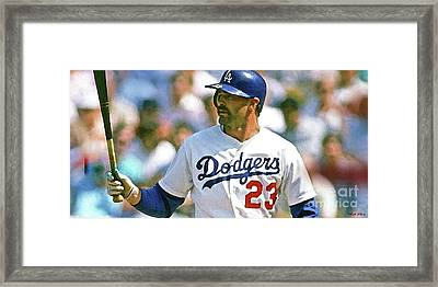 Kirk Gibson, Los Angeles Dodgers Framed Print