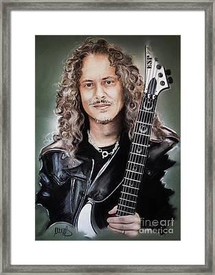 Kirk Hammett Framed Print by Melanie D