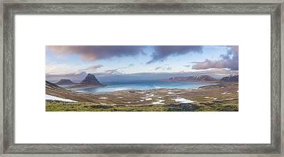 Kirkjufell And Grundarfjordur From On High Framed Print