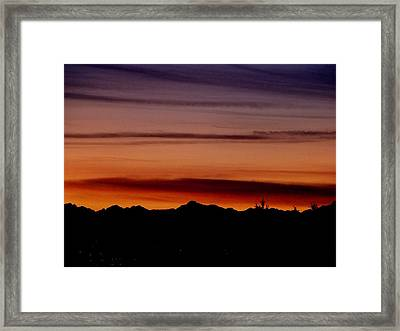 Kirkland At Sunset Framed Print by Barbara Norfleet