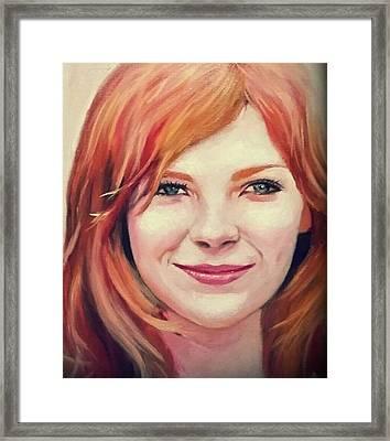 Kirsten Caroline Dunst Framed Print by Peter Kang