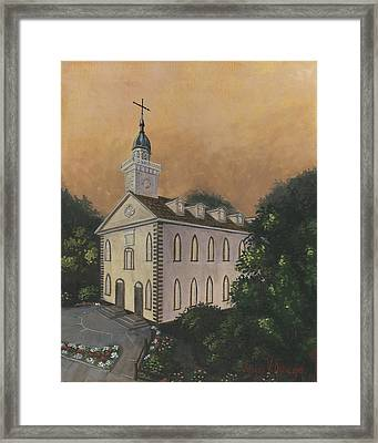 Kirtland Temple Framed Print by Jeff Brimley
