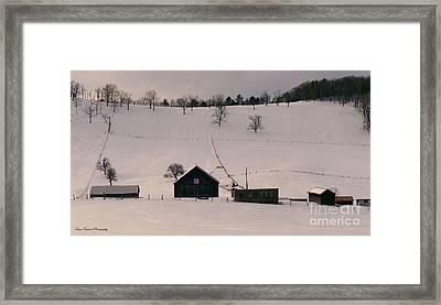 Kiser Gap Farm  Framed Print
