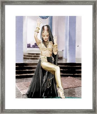 Kismet, Marlene Dietrich, 1944 Framed Print