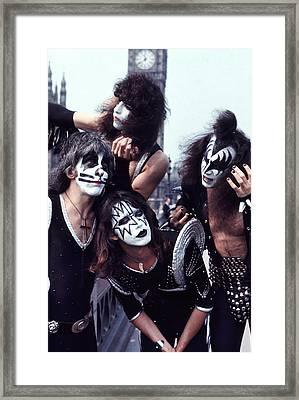 Kiss 1976 In London Framed Print
