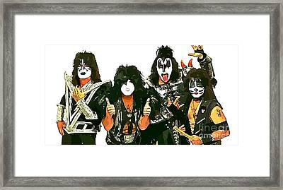 Kiss Abstract Poster Framed Print