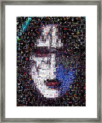 Kiss Ace Frehley Mosaic Framed Print