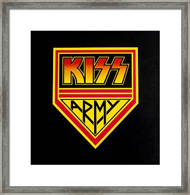 Kiss Army Framed Print