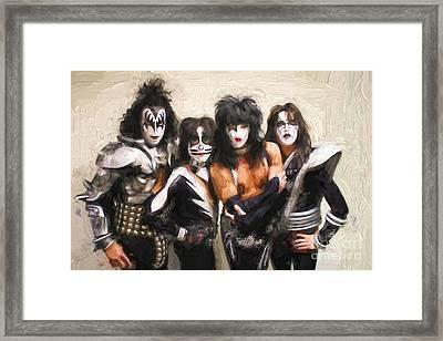 Kiss Band Framed Print