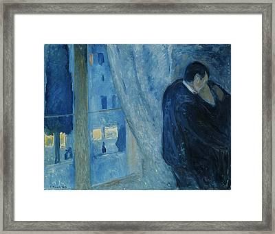 Kiss By The Window Framed Print by Mountain Dreams