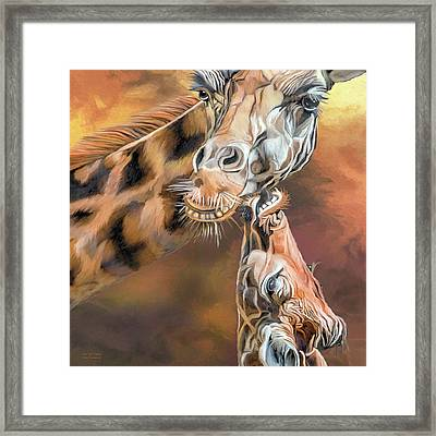 Kiss For Mama Framed Print