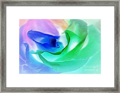 Kiss From A Rose Framed Print
