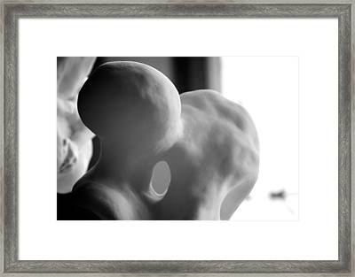 Kiss In Progress Framed Print by Nathan Larson