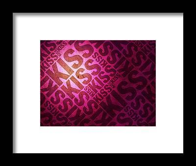 Kiss Framed Prints