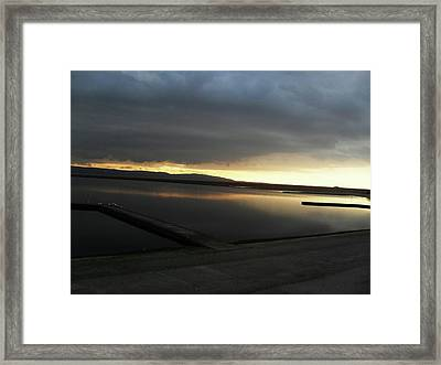 Kiss Me By The Sunset Framed Print by Chrisselle Mowatt