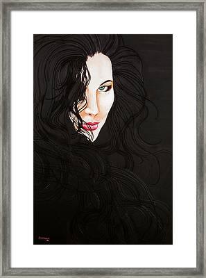 Kiss Me Framed Print by Juan Alcantara