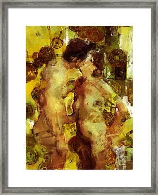 Kiss Me Framed Print by Kurt Van Wagner