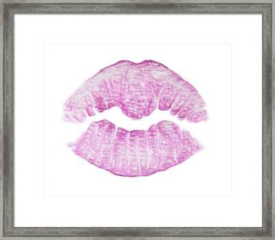 Kiss Me Framed Print by Lipstick Lex