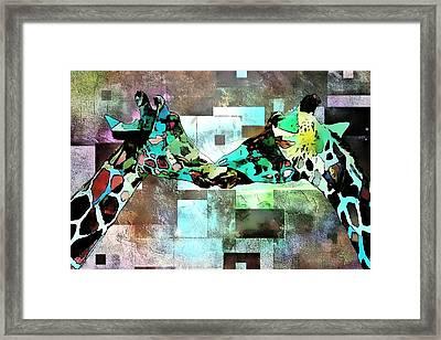 Kiss Me Framed Print by Lynda Payton