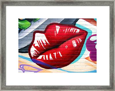 Kiss Me Now ... Framed Print