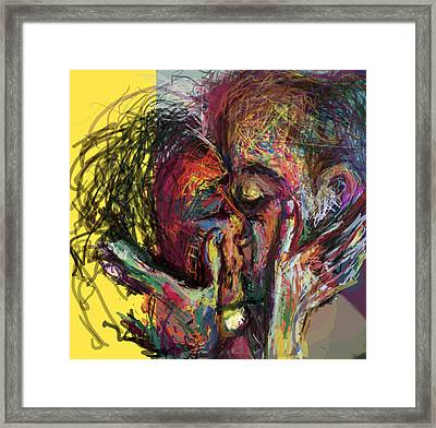 Kiss Me You Big Dick Framed Print