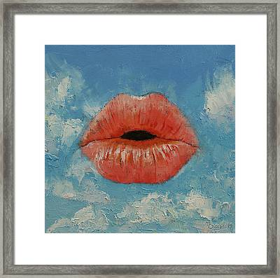 Kiss Framed Print by Michael Creese