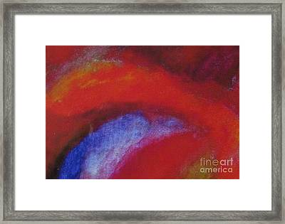 Kiss My Aura Abstract Framed Print by Shelly Wiseberg