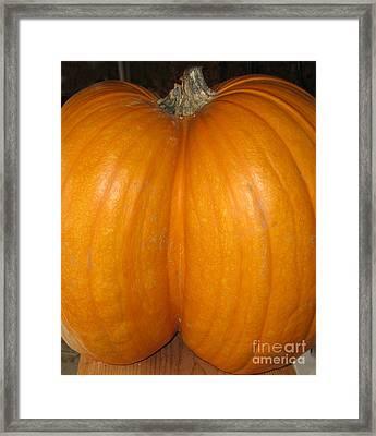 Butt Crack Pumpkin Framed Print