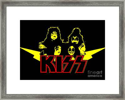 Kiss No.01 Framed Print by Caio Caldas