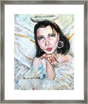 Kiss Of An Angel Framed Print