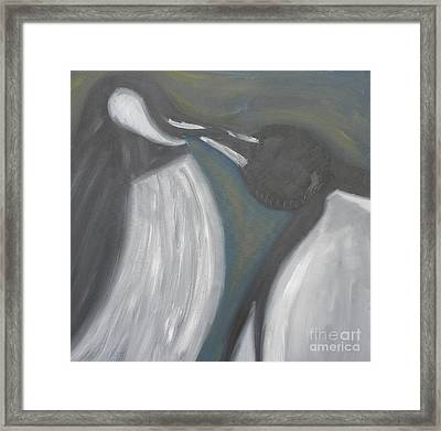 Kiss Of Dawm Framed Print