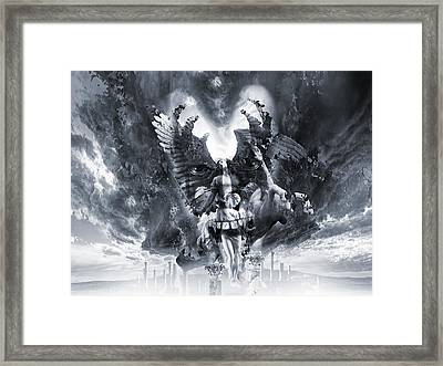 Kiss Of Eros Or Angels And Demons Framed Print by George Grie