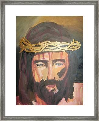 Kiss Of Judas Framed Print by Demetria Kelley