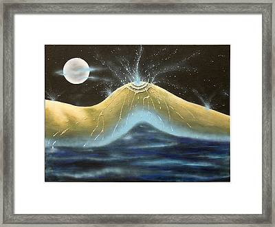 Kiss Of Rain Framed Print by Monty Perales