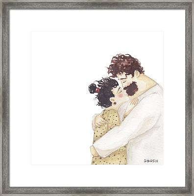 Kiss On A Nose Framed Print
