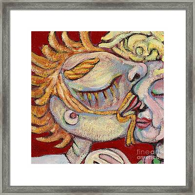 Kiss On The Nose Framed Print