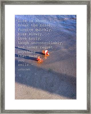 Kiss Slowly Framed Print by Sherry Leigh Williams