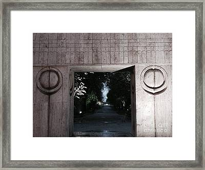 Kiss To Another World Framed Print by Mioara Andritoiu