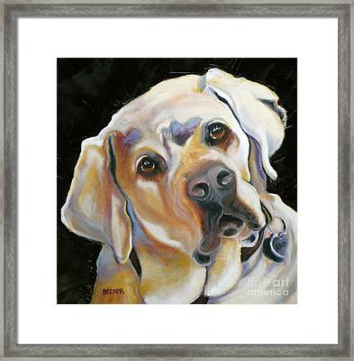 Kissably Close Lab Framed Print by Susan A Becker