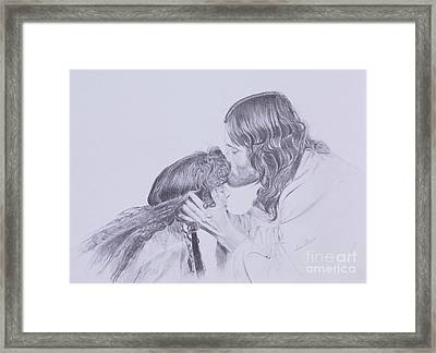 Kissed By Redemption From The Life Of Jesus Series Framed Print