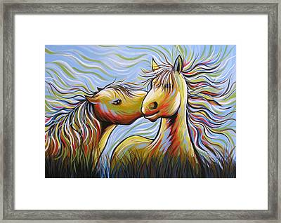 Kisses Framed Print by Amy Giacomelli