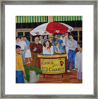 Kisses For Charity Framed Print by Michael Lewis