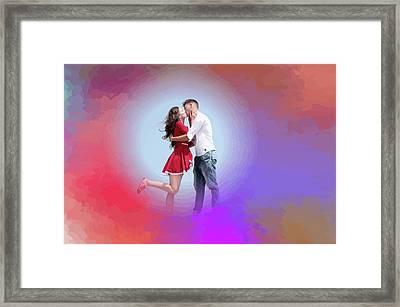 Kissing Couple Framed Print