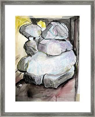 Kissing Rocks Framed Print by Jane Clatworthy