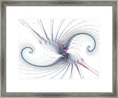 Kissing Spirals No.2 With Title - Kiss Me Framed Print by Ganesh Barad