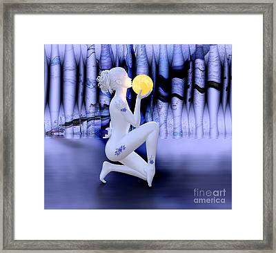 Kissing The Moon Framed Print