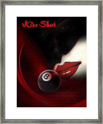 Kissshot Framed Print by Draw Shots