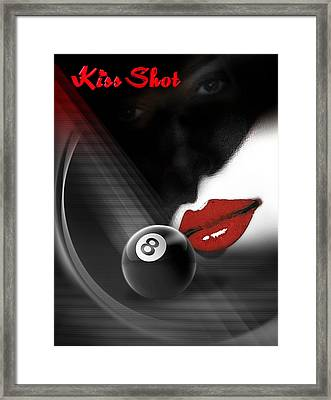 Kissshot2 Framed Print by Draw Shots