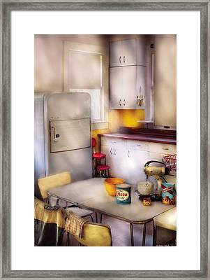Kitchen - A 1960's Kitchen  Framed Print by Mike Savad